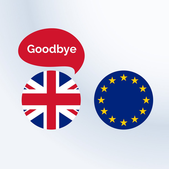 UK Flag Saying Goodbye to the EU Flag Background vector created by starline - www.freepik.com